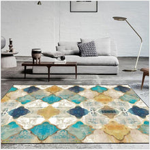 Load image into Gallery viewer, Vintage American Geometry Moroccan Carpet