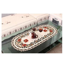 Load image into Gallery viewer, Vintage Embroidered Rose Cutwork Tablecloths