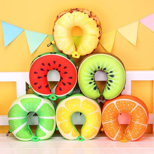 1pcs 6 Colors Fruit U Shaped Pillow
