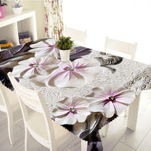 Load image into Gallery viewer, 3D Embossed Flower Tablecloth Creative Colorful