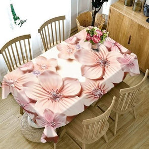 3D Embossed Flower Tablecloth Creative Colorful
