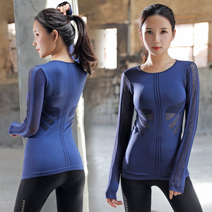 Hollow Out Slim Fit Mesh Top