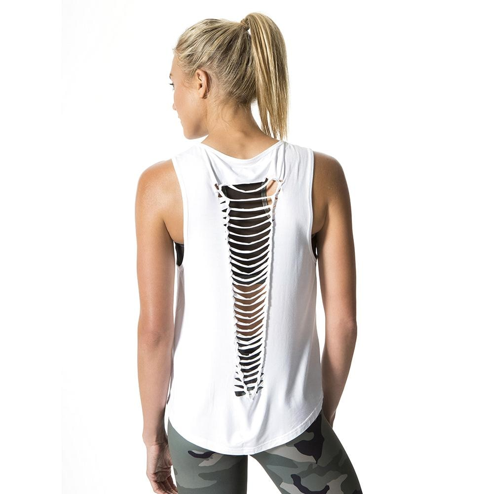 Cutout Backless Workout Tank
