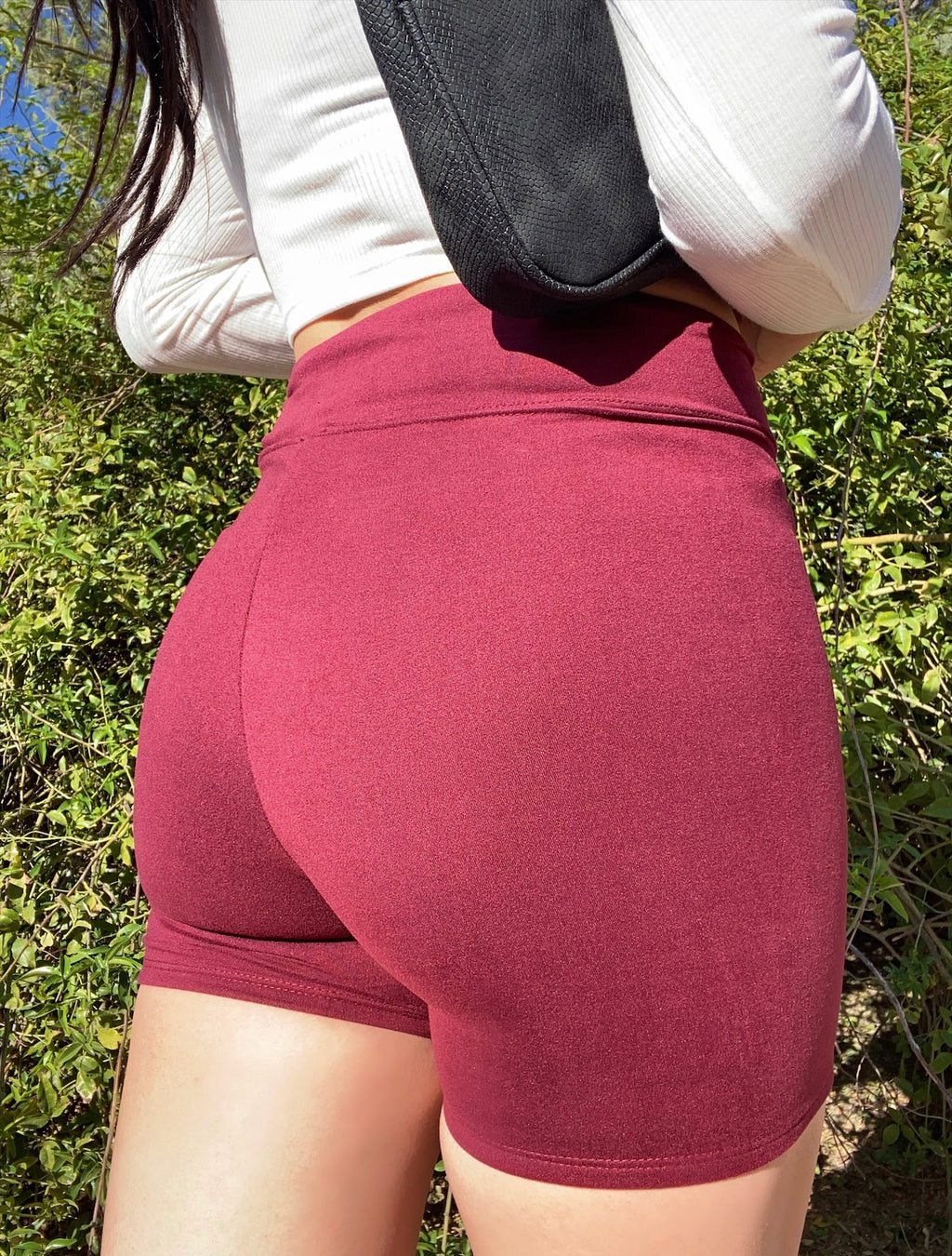 Viv biker shorts (burgundy)