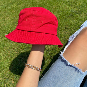 Sarah bucket hat (red)