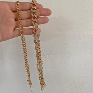 Sam Necklace (gold double)