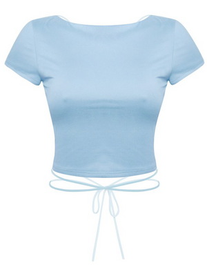 ANG OPEN BACK SHORT SLEEVE (baby blue)