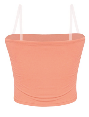 Sunny Clear Strap Crop (Light Coral)