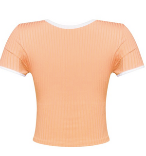 Savy Ribbed Top (Coral)