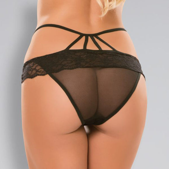 Adore Angel Panty - One Size - Black ALR-A1012