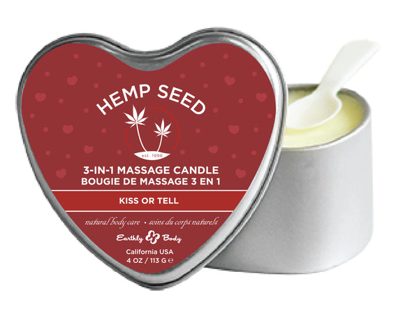 Heart Candle 3-N-1 Kiss or Tell 4 Oz EB-HSCV040