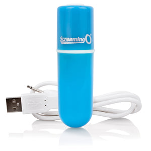 Charged Vooom Rechargeable Bullet Vibe - Blue AMV-BU-101E