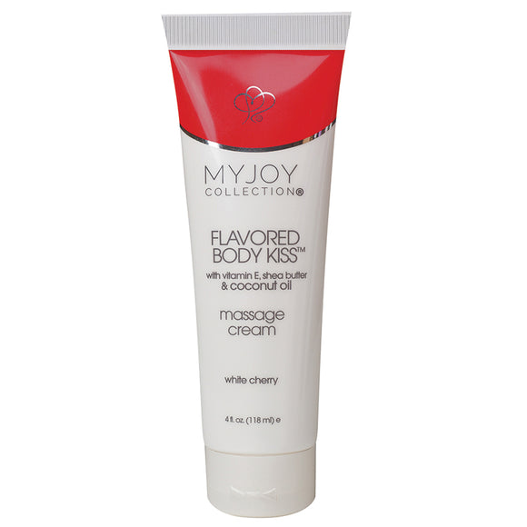 My Joy Collection Flavored Body Kiss Massage Cream-White Cherry 4oz