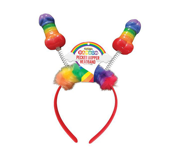 Rainbow Pecker Bopper Headband HTP3313