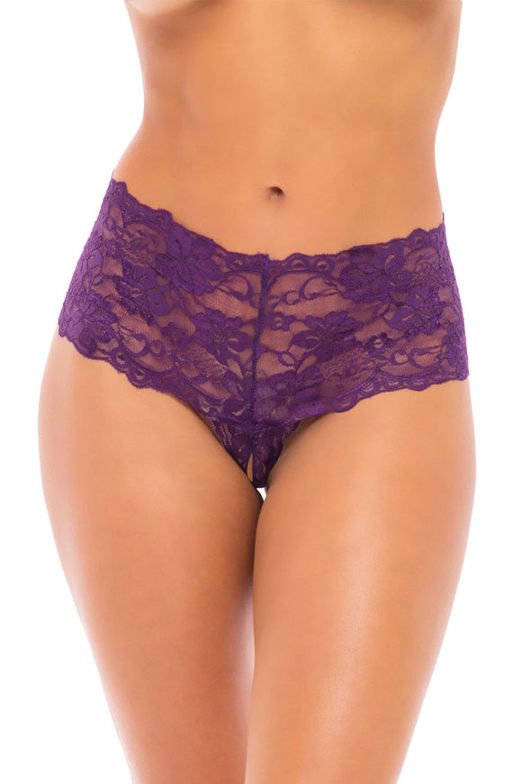 Good Night Kiss Boyshort With Elastic Detail - Grape Royale - L/xl OH-2025-GRLXL