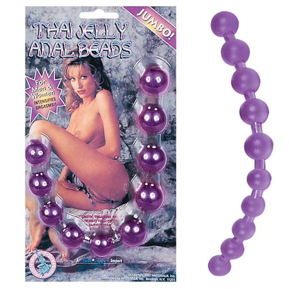 Thai Jelly Anal Beads-Purple