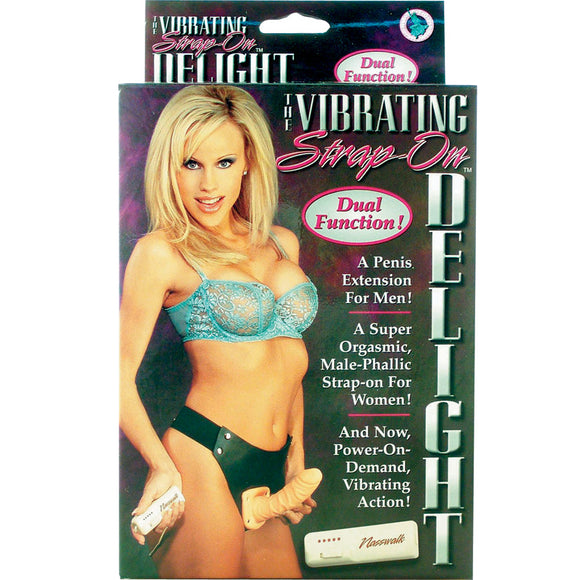 Strap-On Delight Vibrating Dong 7
