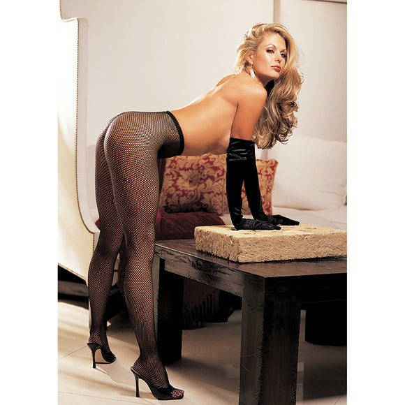 Hot Fishnet Pantyhose-Black O/S