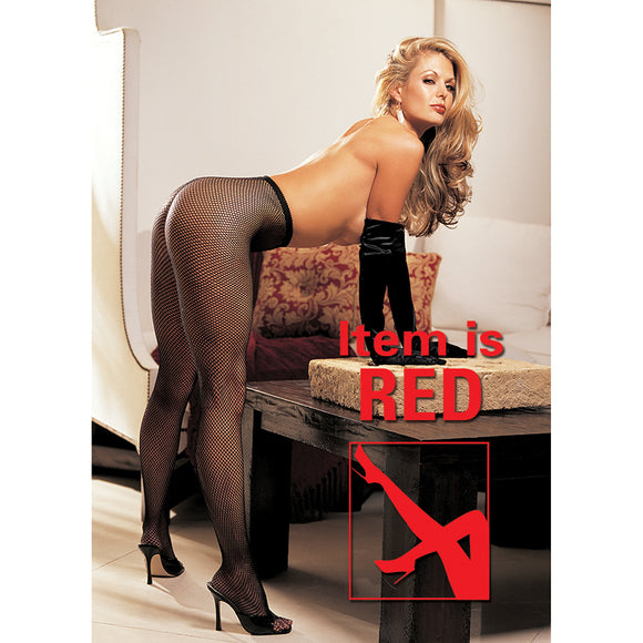Hot Fishnet Pantyhose-Red O/S