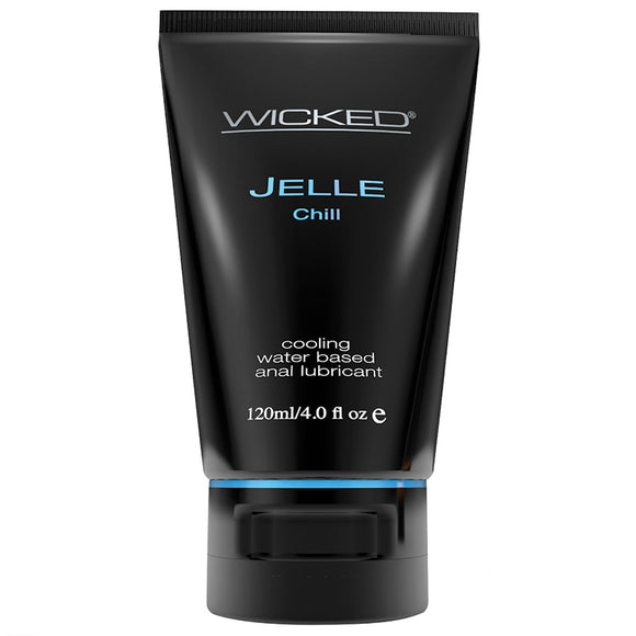 Wicked Jelle Chill Cooling Waterbased Anal Lubricant 4oz