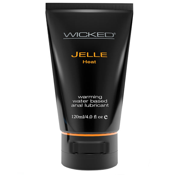 Wicked Jelle Heat Warming Waterbased Anal Lubricant 4oz