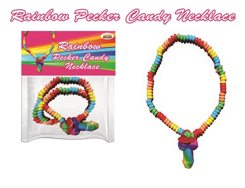Rainbow Pecker Candy Necklace HTP2977