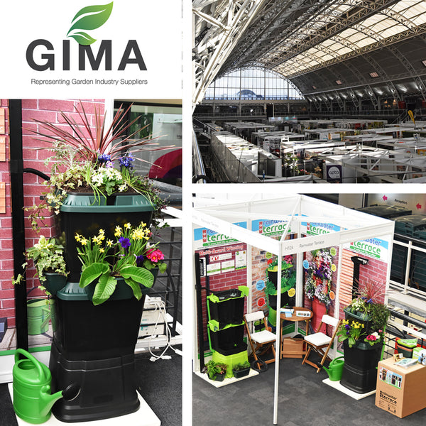 Water butts at the GIMA press day in London 2018