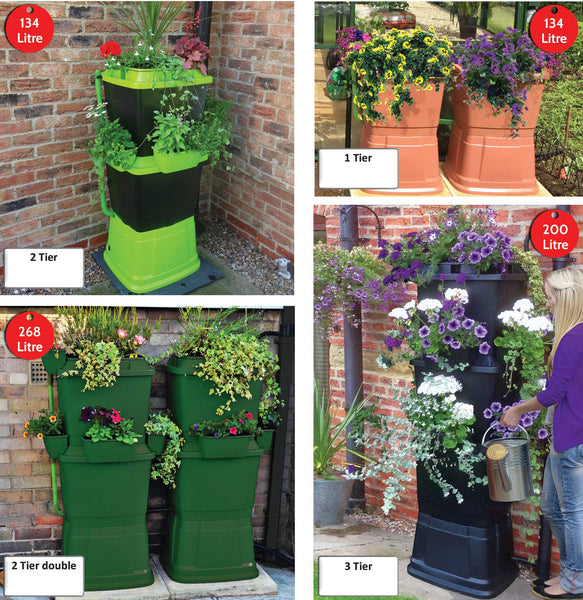 water butts that look great by rainwater terrace