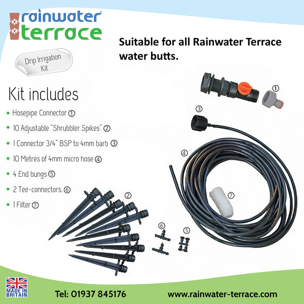 water butt micro drip irrigation kit for Rainwater Terrace
