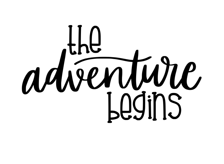 The Adventure Begins vinyl decal - FREE SHIPPING! multiple sizes