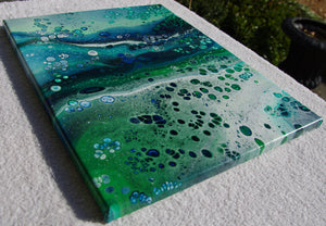 14x18 Acrylic Abstract Painting - The Great Expanse