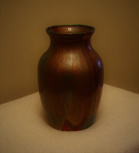 5x7.5 Glass Vase Turquoise and Copper