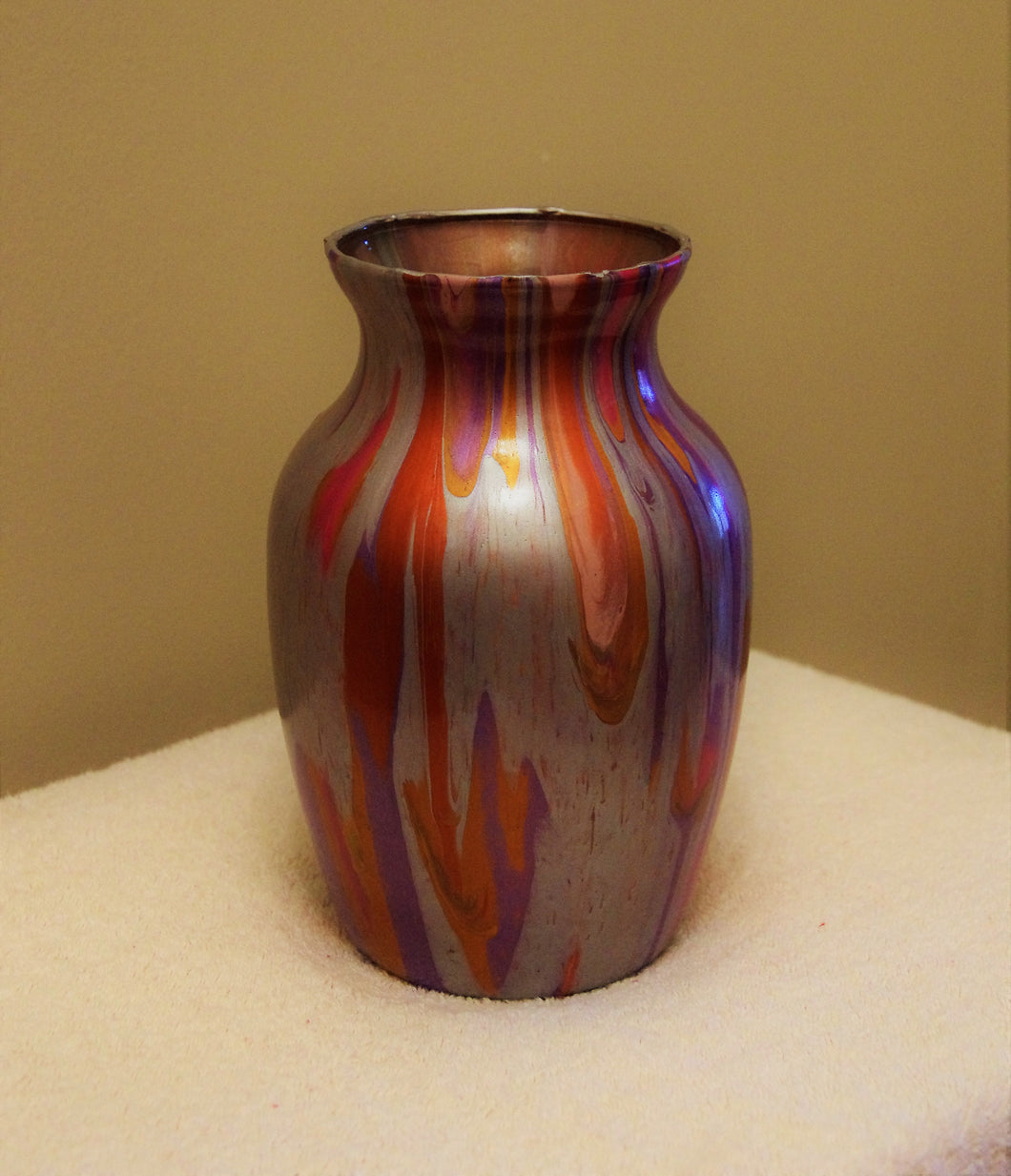 5x7.5 Glass Vase Bright Metallics