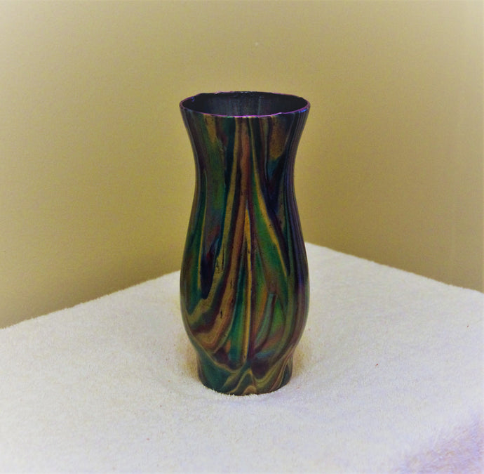 3x6.5 Glass Vase Bright Metallic Colors