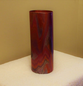 3.5x9 Straight Glass Vase Metallic Colors