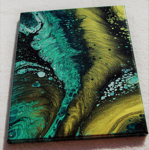 11x14 Acrylic Abstract Painting - Verdant