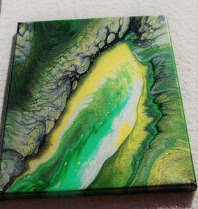 11x14 Acrylic Abstract Painting - Cloistered Bay