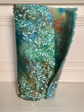Load image into Gallery viewer, Standing blue/bronze Freeform Resin Art Sculpture