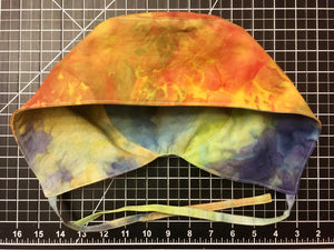 Reversible scrub cap with ties!