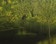 "Load image into Gallery viewer, ""The Swamp"" - 16x20 Landscape Oil Painting"