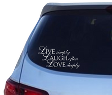 Load image into Gallery viewer, Live Laugh Love vinyl decal - FREE SHIPPING! multiple sizes