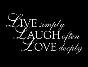 Live Laugh Love vinyl decal - FREE SHIPPING! multiple sizes