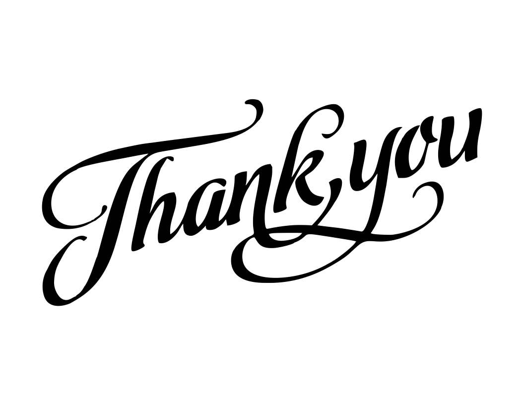 Thank You vinyl decal - FREE SHIPPING! multiple sizes