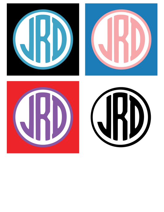 Monogram Stickers! - 25% off 3 or more sheets! FREE SHIPPING! multiple sizes