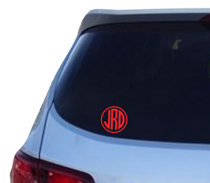 Monogram decal - 25% off 3 or more! FREE SHIPPING! multiple sizes