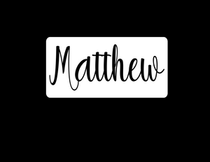 Name cutout in rectangle decal - 25% off 3 or more! FREE SHIPPING! multiple sizes