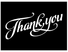 Load image into Gallery viewer, Thank You vinyl decal - FREE SHIPPING! multiple sizes