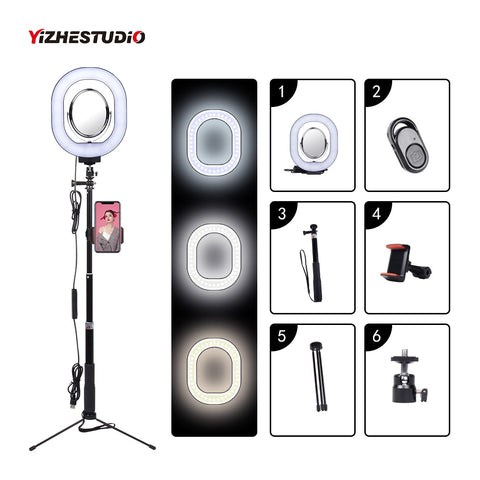 3500-5500k Photography Dimmable LED Selfie Ring Light With Phone Holder USB Plug Tripod  Stepless Selfie light - A-Z amazing