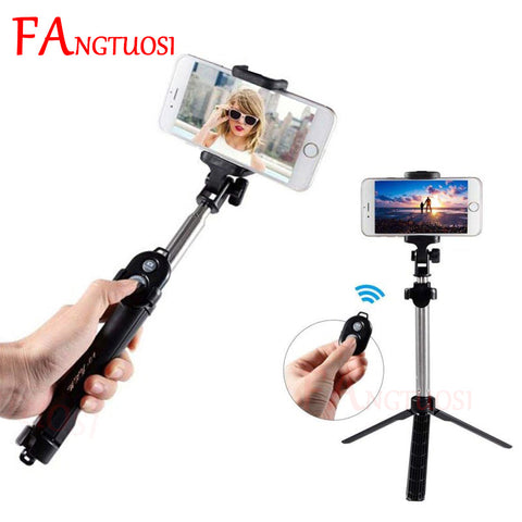 Mini Selfie Tripod with Remote Control for iPhone X 8 7 6s Plus Portable Monopod - A-Z amazing