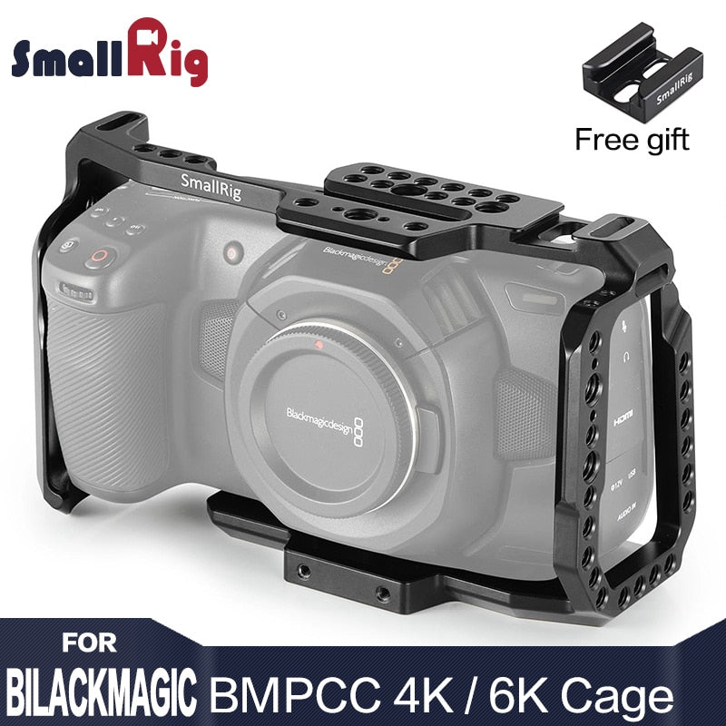 SmallRig bmpcc 4k Cage DSLR Camera Blackmagic Pocket 4k / 6K Camera for Blackmagic Pocket Cinema Camera 4K / 6K BMPCC 4K 2203 - A-Z amazing